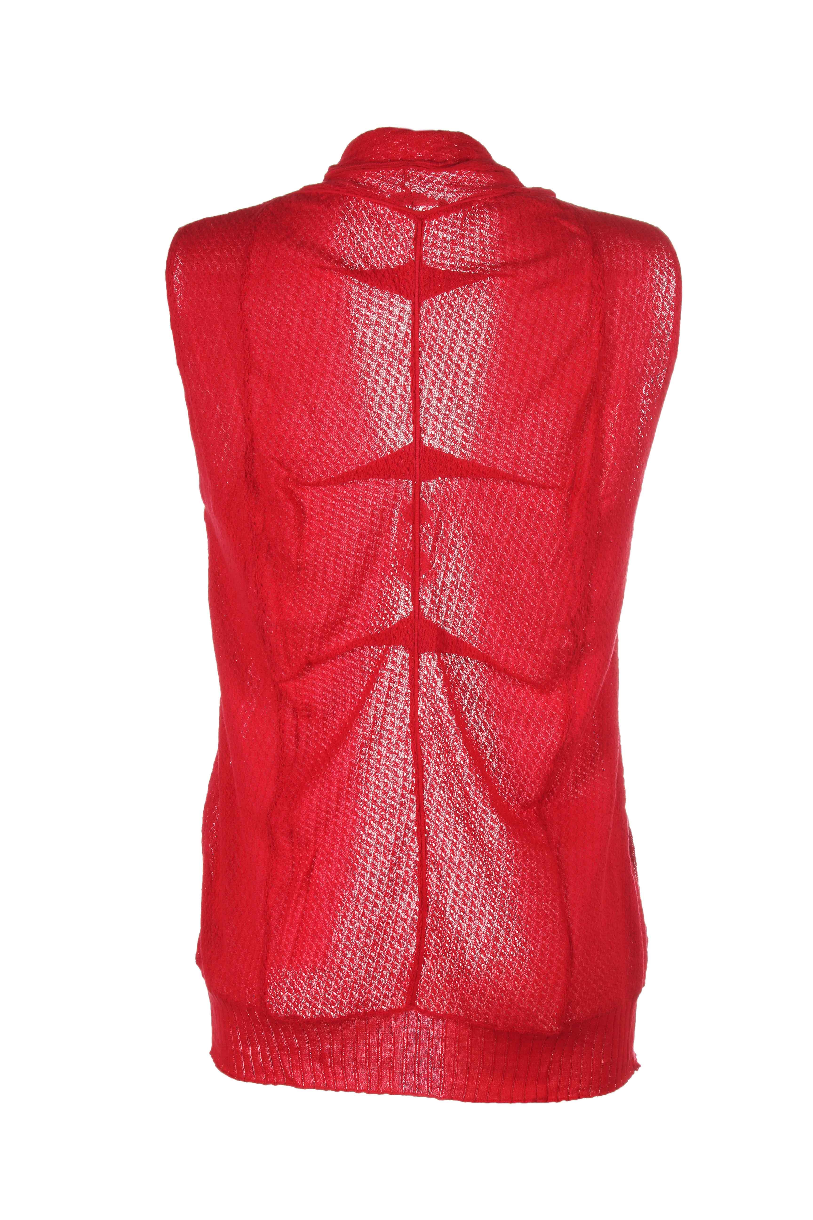 bande originale gilet femme de couleur rouge en soldes pas cher 204312 rouge0 modz. Black Bedroom Furniture Sets. Home Design Ideas