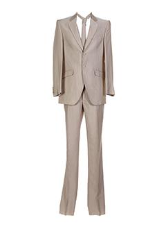 carlo et pignatelli pantalon et veste homme de couleur beige (photo)