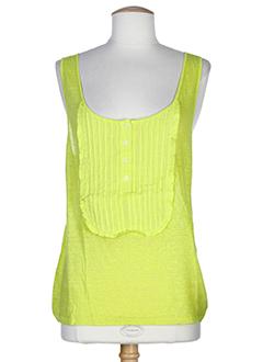 120 et lino tops femme de couleur jaune (photo)