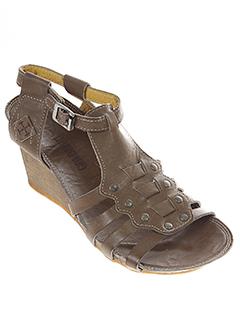 goldmud sandales et nu et pieds femme de couleur marron