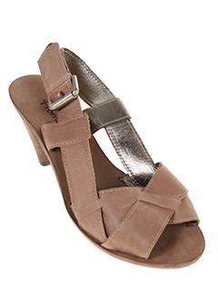 homers sandales et nu et pieds femme de couleur marron