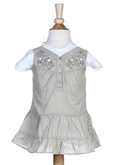 confetti t et shirt et robe fille de couleur beige (photo)