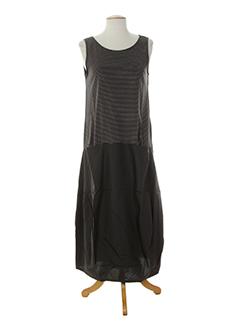 apuntob robes et longues femme de couleur gris