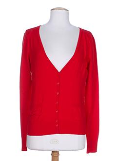 essentiel cardigans femme de couleur rouge