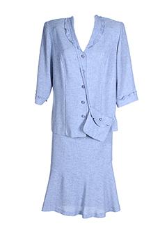 christian et michel jupe et veste femme de couleur bleu (photo)