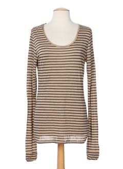 0039 et italy t et shirts et longs femme de couleur beige (photo)