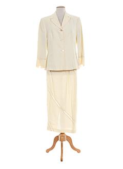 blus et blus jupe et veste femme de couleur beige (photo)