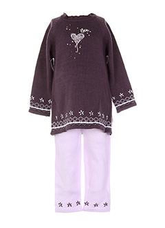 3 et pommes pull et pantalon fille de couleur violet (photo)