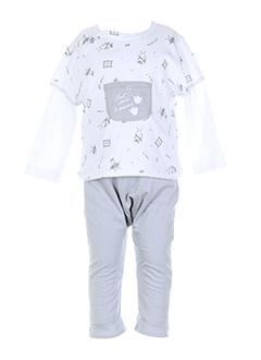 3 et pommes t et shirt et pantalon garcon de couleur blanc (photo)