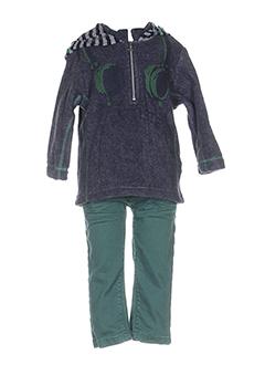 3 et pommes pull et pantalon garcon de couleur vert (photo)