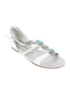 beverly et feldman sandales et nu et pieds femme de couleur blanc