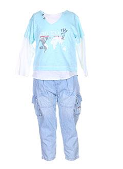 3 et pommes t et shirt et pantalon enfant de couleur bleu (photo)
