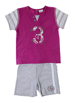3 et pommes t et shirts et shorts fille de couleur violet (photo)