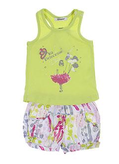 3 et pommes t et shirts et shorts fille de couleur vert (photo)
