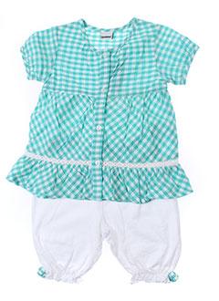 3 et pommes t et shirt et pantalon fille de couleur vert (photo)