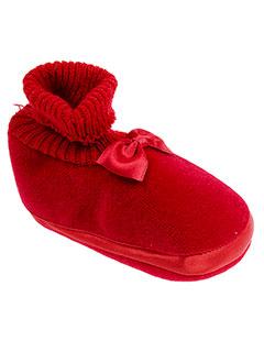 babybotte chaussons fille de couleur rouge