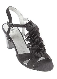 caprice sandales et nu et pieds femme de couleur noir