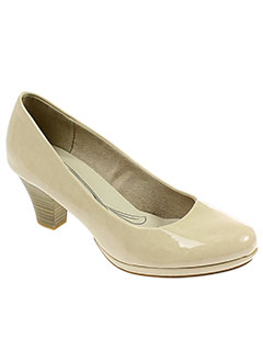 jana escarpins femme de couleur beige