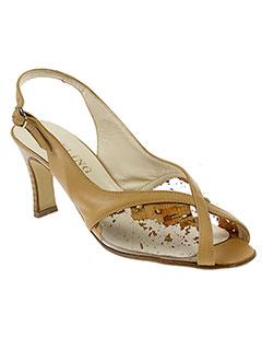 feeling sandales et nu et pieds femme de couleur beige