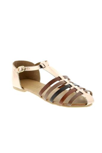 ephemere et for et ever sandales et nu et pieds femme de couleur marron
