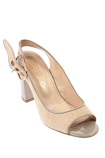 rosemetal sandales et nu et pieds femme de couleur beige