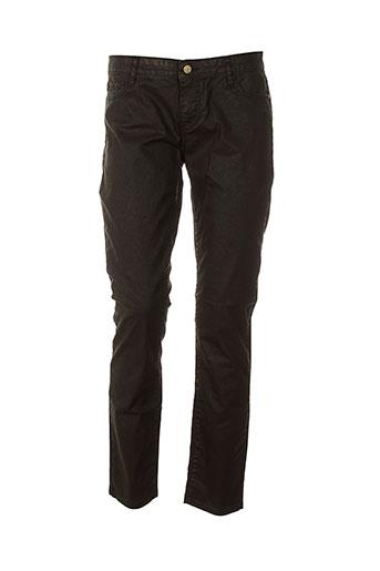 acquaverde jeans et coupe et slim femme de couleur marron (photo)