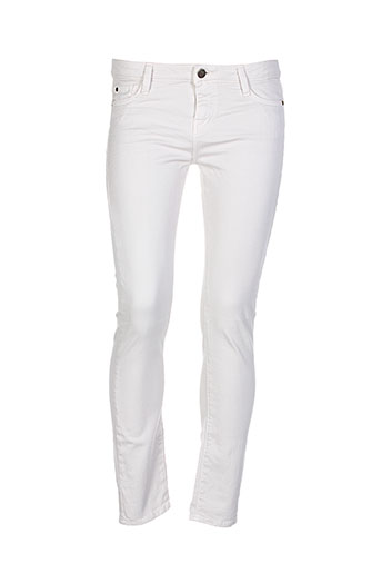 acquaverde jeans et coupe et slim femme de couleur beige (photo)