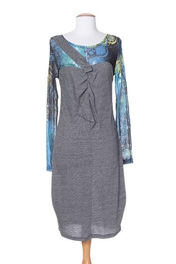 2026 robes et mi et longues femme de couleur bleu (photo)