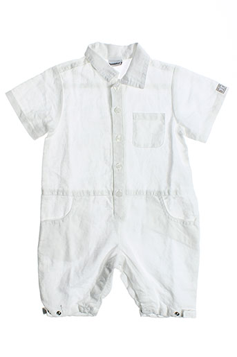 3 et pommes combi et shorts garcon de couleur blanc (photo)