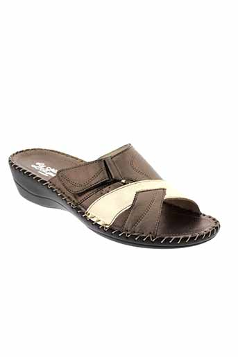 la et maison et de et l et espadrille sandales et nu et pieds femme de couleur marron