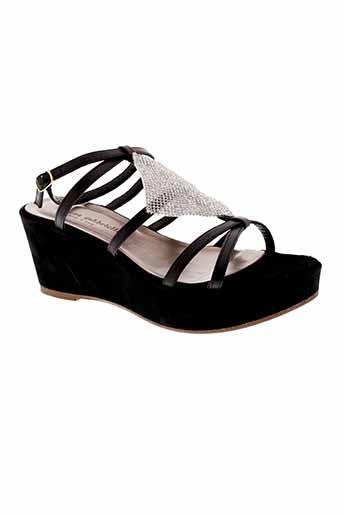 morena et gabbrielli sandales et nu et pieds femme de couleur noir