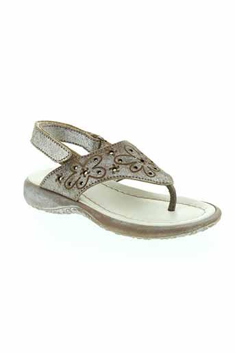 stones et and et bones sandales et nu et pieds fille de couleur marron