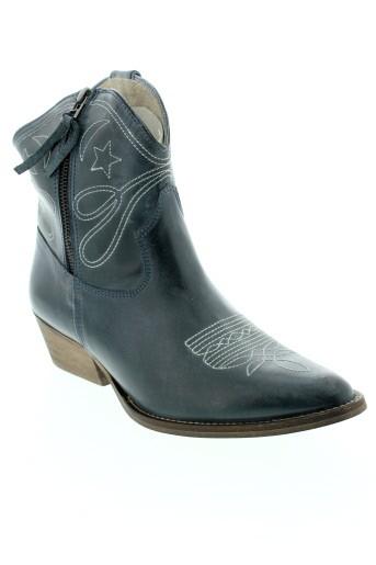 ilario et ferucci boots femme de couleur bleu