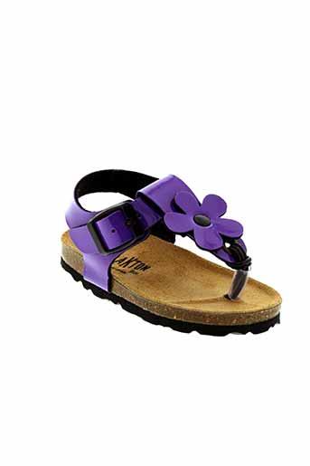 plakton sandales et nu et pieds fille de couleur violet