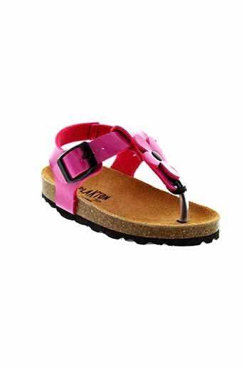 plakton sandales et nu et pieds fille de couleur rose