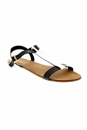 dona et nova sandales et nu et pieds femme de couleur noir