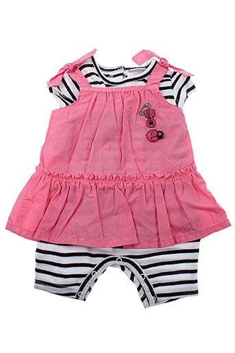 3 et pommes combi et shorts fille de couleur rose (photo)