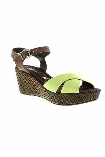 sweet sandales et nu et pieds femme de couleur vert