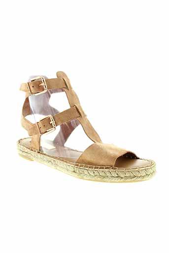 maypol sandales et nu et pieds femme de couleur beige