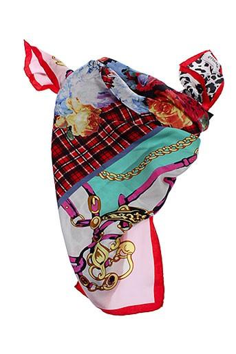 codello foulards femme de couleur rouge