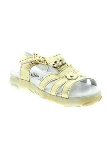 bellamy sandales et nu et pieds fille de couleur jaune