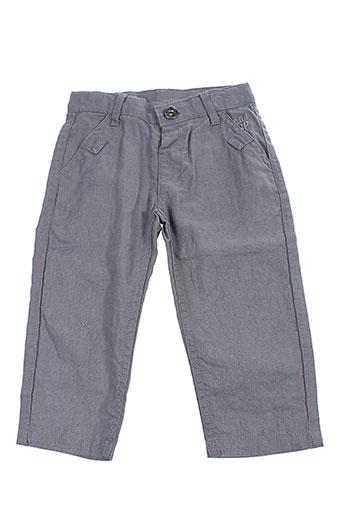 3 et pommes pantalons et decontractes garcon de couleur gris