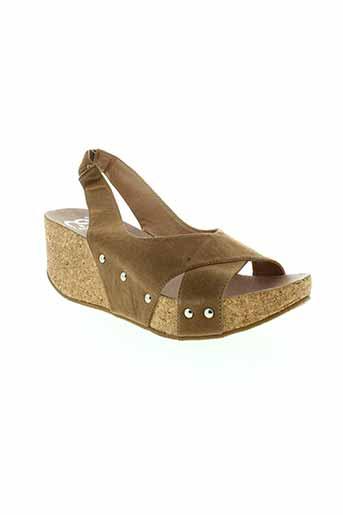 cassis et cote et d et azur sandales et nu et pieds femme de couleur marron