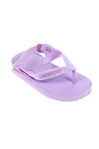 havaianas tongs fille de couleur violet