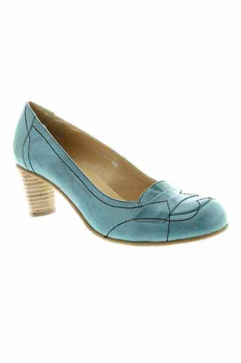 fidji escarpins femme de couleur bleu