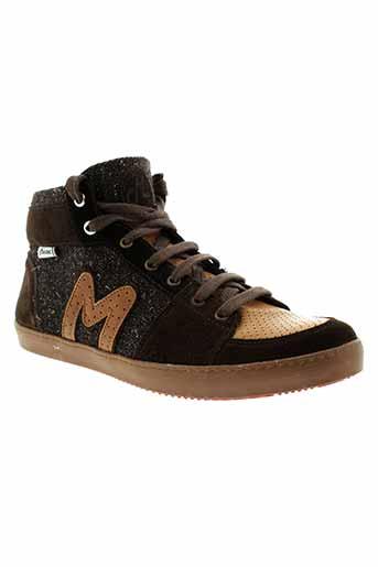 mascaret baskets homme de couleur marron