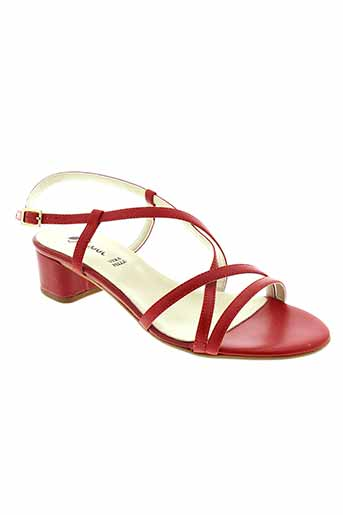 johann sandales et nu et pieds femme de couleur rouge
