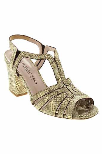 mauro et teci sandales et nu et pieds femme de couleur beige