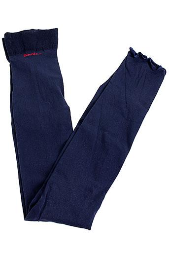 berthe et aux et grands et pieds bas et collants femme de couleur bleu
