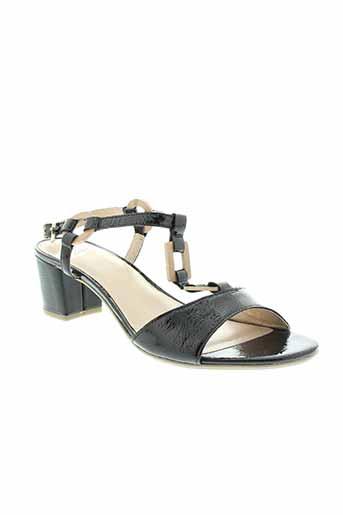 sweet sandales et nu et pieds femme de couleur noir